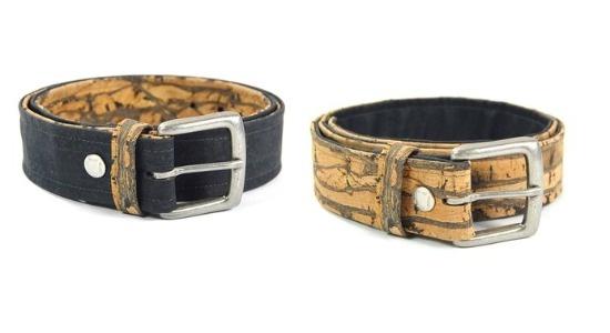 Belts made of cork.