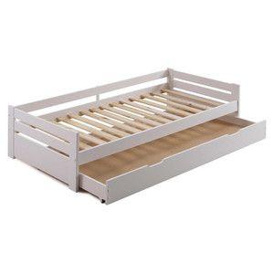 Biela posteľ s úložným priestorom SOB Marissa, 90x200cm