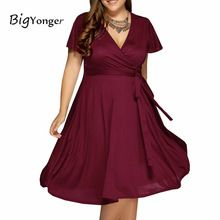 summer dress 2017 Maxi red dresses 4 color Available v neck women dresses plus size 6l long 6xl women dress with belt(China (Mainland))