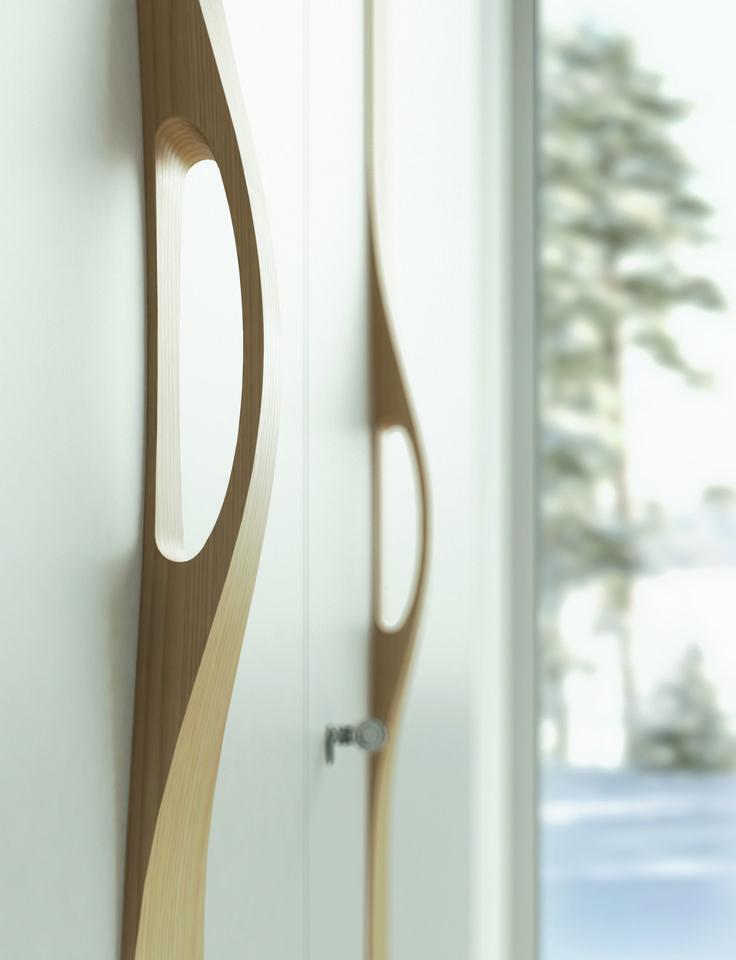 Высокий дизайн.  Авторская коллекция дверей Manigliona, дизайнер - Franco Poli.  #sofiadoors #двери #паркет
