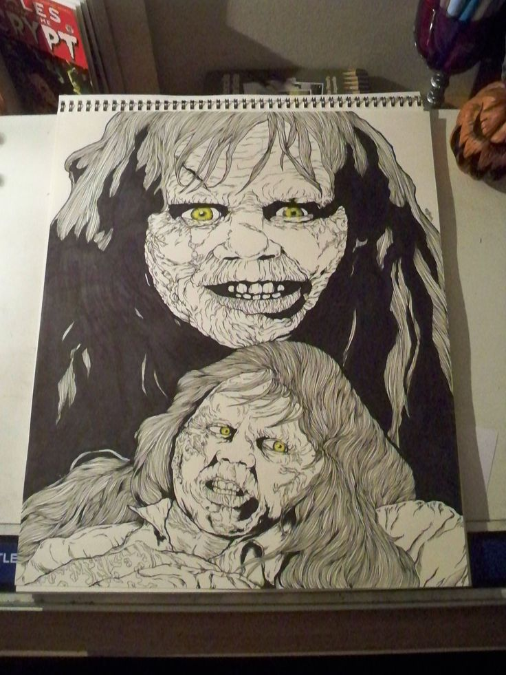 14'x17' Exorcist from 1973.The first piece in my new horror zine that I am starting in my free time. More news about that coming up soon.  all inked with microns and copic markers.  Asking $110 for this one with free shipping.