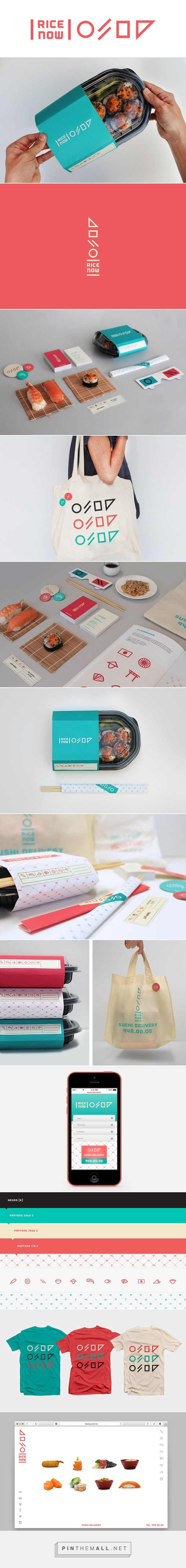 Rice Now Sushi Delivery on Behance - created via http://pinthemall.net