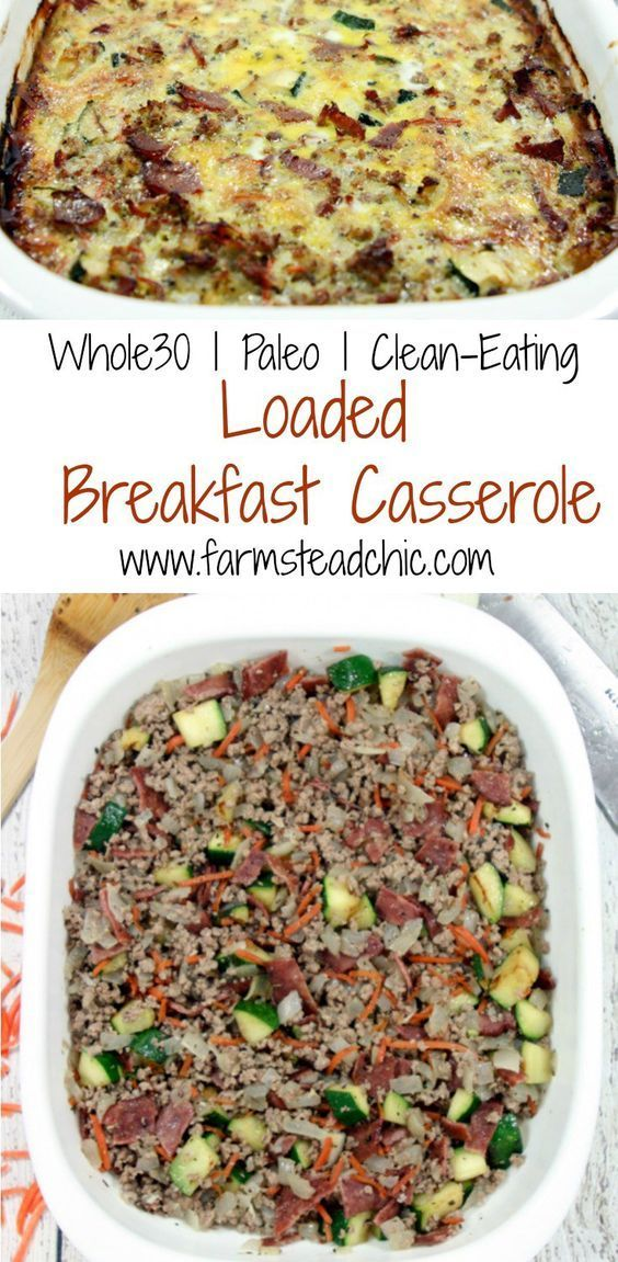 This Paleo and Whole30 Breakfast Casserole will be the hit of your weekend brunch, filled with bacon, eggs and beef. It's even chock full of sneaky veggies!