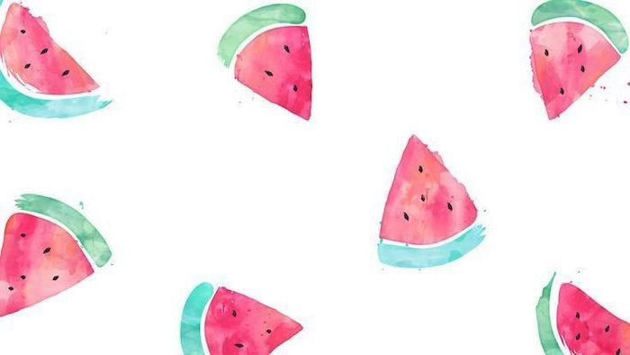 Cute Desktop Backgrounds Slices Of Watermelon Drawing On White Background Cool Wallpapers For Phones Wallpaper Cute Wallpapers Cute wallpapers for pc