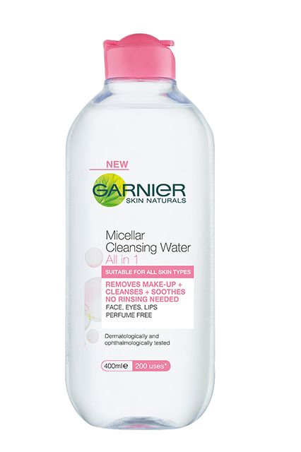 Could Cleansing Water Be The Secret To Awesome Skin? #refinery29 http://www.refinery29.com/cleansing-water#slide4 The first mass-market micellar formula to hit shelves, Garnier's cleansing water is just as gentle as the others. The clincher? The huge 400-milliliter bottle yields up to 200 uses — that's about a nickel per application.