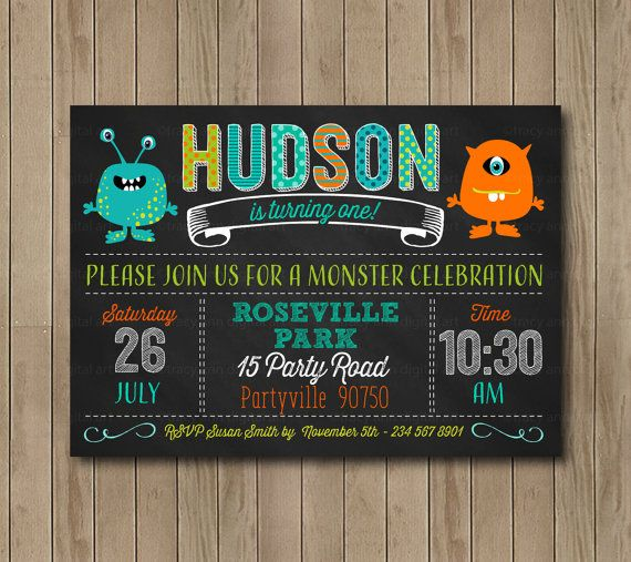 68 best birthday invitations images on pinterest invite lyrics monster birthday invitation1st birthday by tracyannprintables stopboris Image collections