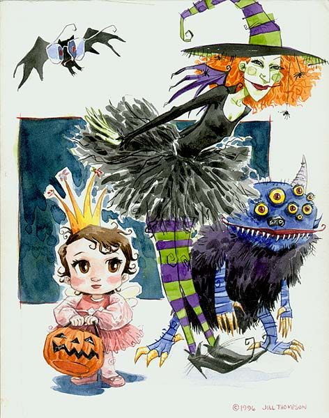 The First Scary Godmother Illustrationby Jill Thompson from 1996