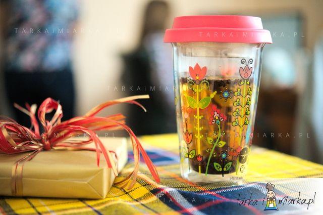 Kubek Lea z silikonową pokrywką Tea, Sagaform