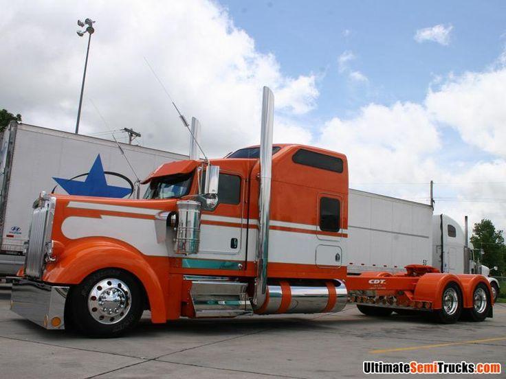 Trucks Custom Big Rig Orange : Http ultimatesemitrucks images usa trucks b