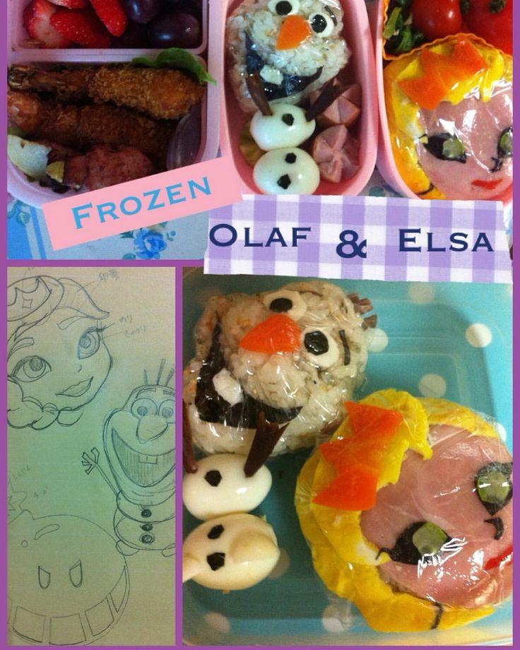 #japanesefood #frozen #olaf#elsa#obento