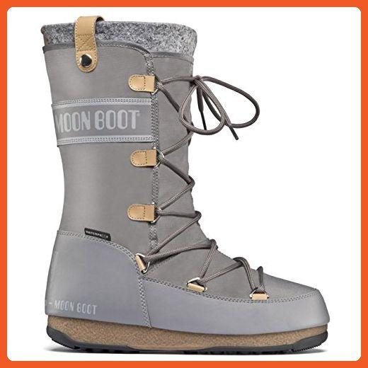 Womens Original Tecnica Moon Boot We Monaco Felt Winter Knee High Snow Waterproof Boots - Blue Denim - 10 - Boots for women (*Amazon Partner-Link)
