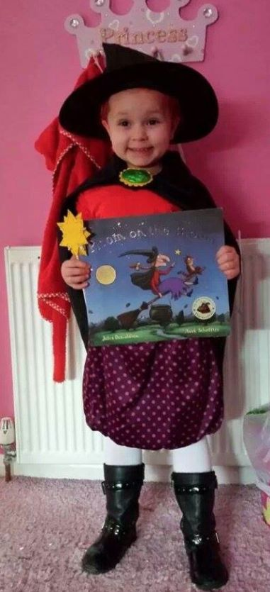 Another brilliant World Book Day costume for Room on the Broom