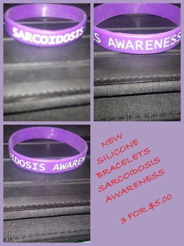 3 (SARCOIDOSIS AWARENESS) Silicone Bracelets