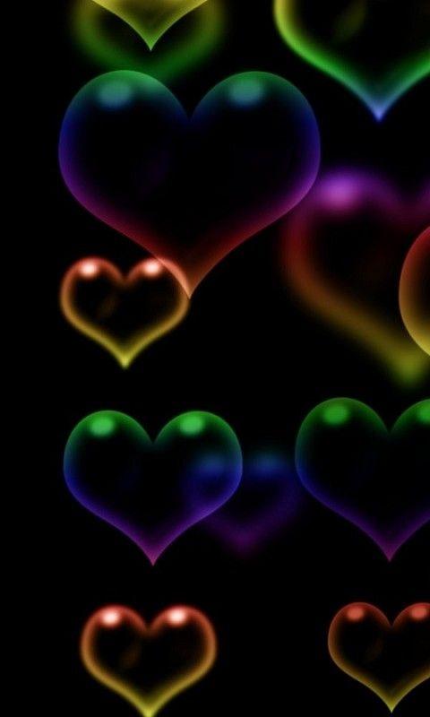 corazones de colores fondo - photo #35