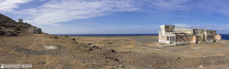 The airport at Fajã de Água, on Brava Island, Cape Verde, now closed down due to strong winds.