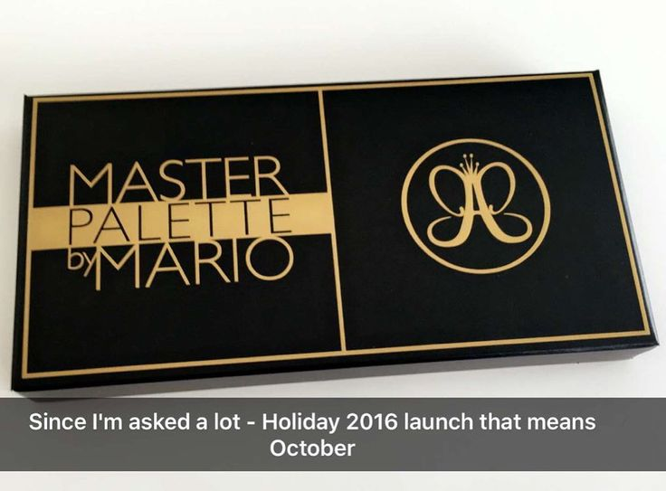 http://www.youtube.com/channel/UCqEqHuax3qm6eGA6K06_MmQ?sub_confirmation=1 UPDATE Looking forward to this one... @anastasiabeverlyhills X @makeupbymario  #MasterPaletteByMario Will be available for the #Holidays2016  October Can't wait to see more Is it on your list?#Trendmood #anastasiabeverlyhills #norvina #makeupbymario #makeup #mua #makeupartist #art #artist #eyeshadow #eyes pic snapchat: @norvina THANK U for this beautiful update: by trendmood1