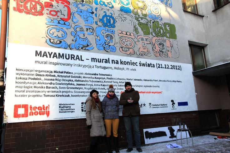 Mayamural, day 5, last. 14/18 Day 5, last. #maya #mural #cracow #2012 #graffiti #streetart Cracow, Poland.