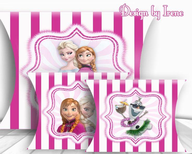 Frozen printable. Pillow Box Templates, Pillow Boxes Printables, Digital Downloads File.