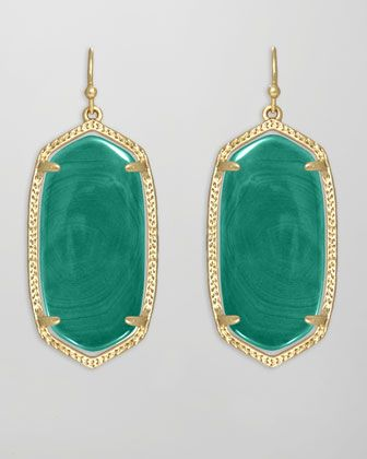 Elle Earrings, Green Agate by Kendra Scott at Neiman Marcus.
