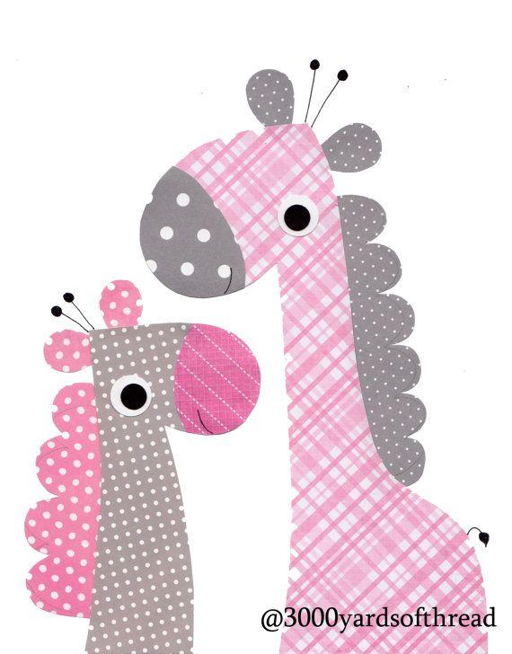 Розовый Жираф Детские стены искусства детская комната ребенка питомник дети стены искусства искусство печать розовый серый подарок ребенку питомник подарок серый розовой любви