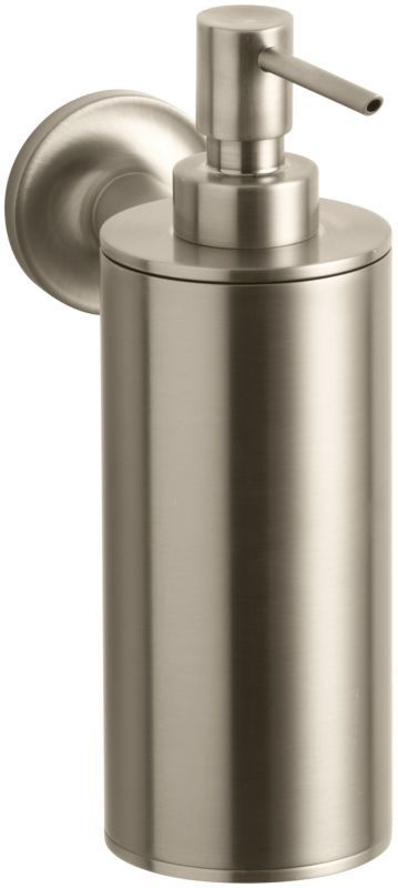 Kohler K 14380 Purist Wall Mounted Soap Dispenser Vibrant Brushed Bronze Accessory Mount And Walls