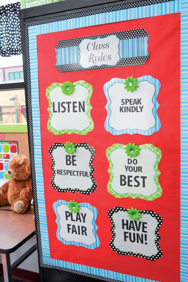 Classroom Rules Decor ~ Decorate your classroom in trendsetting fashion with our