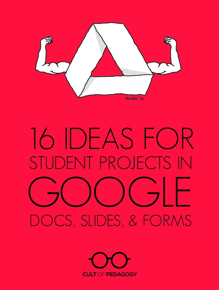 16 Ideas for Student Projects using Google Docs, Slides, and Forms | Cult of Pedagogy | Bloglovin'