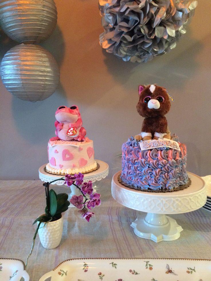 Beanie Boo Cakes One For Each Girl Beanie Boo