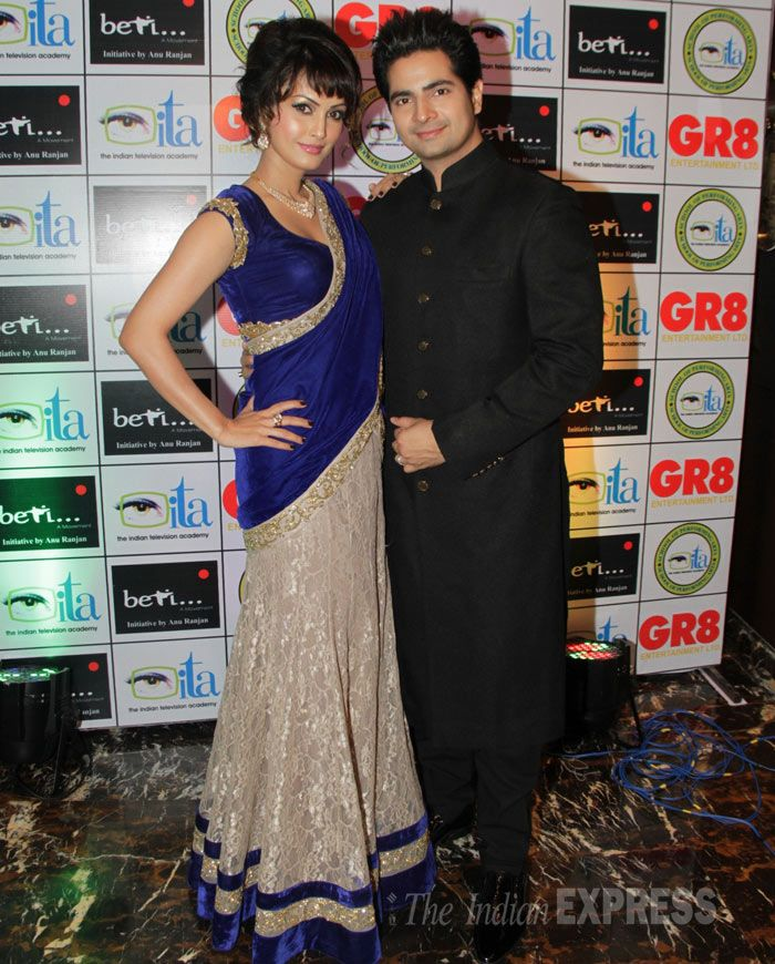TV actors Karan Mehra and wife Nisha Rawal at the 13th GR8! Women Awards. #Style #Bollywood #Fashion #Beauty