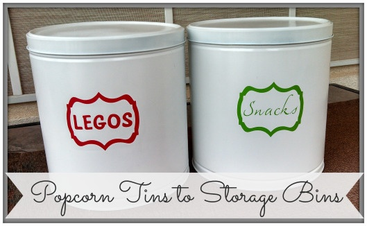 popcorn tins to storage bins