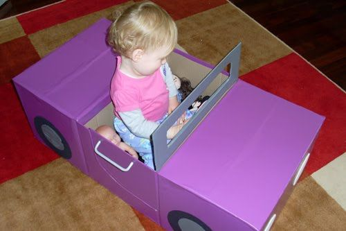 how to make a colured car out of cardboard