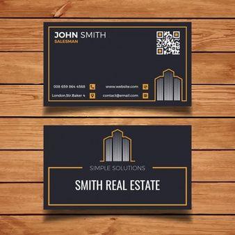 Cartão escuro da visita dos bens imobiliários