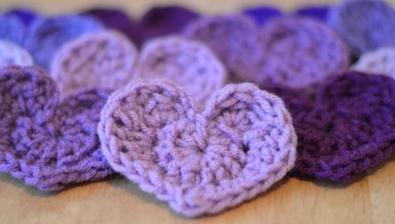 """Crochet Heart Pattern. Basic...she says """"The easiest"""", which I disagree with, but it is a basic beginner heart. Completed on 3/2/15"""