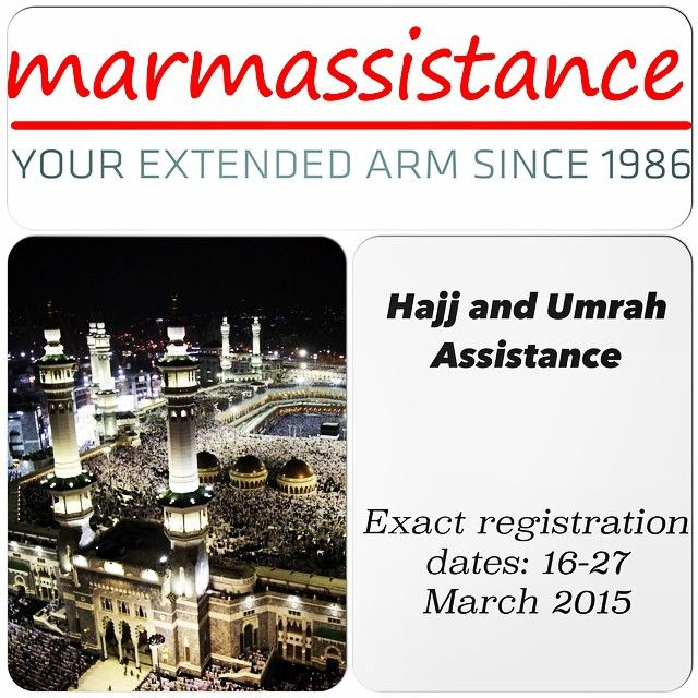 With nearly 30 years of experience in international patient facilitation and enhanced service provider network, we provide 24/7 assistance services for pilgrims in their hajj and umrah trips.   Those who wish to enjoy the peace-of-mind of a healthy and comfortable pilgrimage are welcome to choose any one of our assistance packages.  Read More... http://marmassistance.com/services/customized-solutions/hadj-and-umrah-assistance/