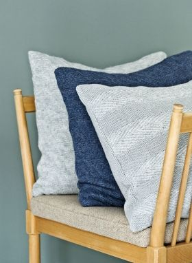 StrikAholic - Tactile Stripes Cushion and Diagonal Stripes Cushion ambiance 2