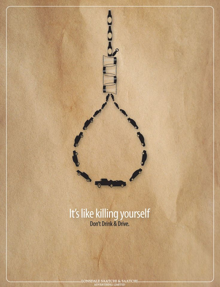 This PSA is effective because it is simple but impactful. I think using the noose is a good idea because it represents killing yourself through putting yourself through drunk driving.