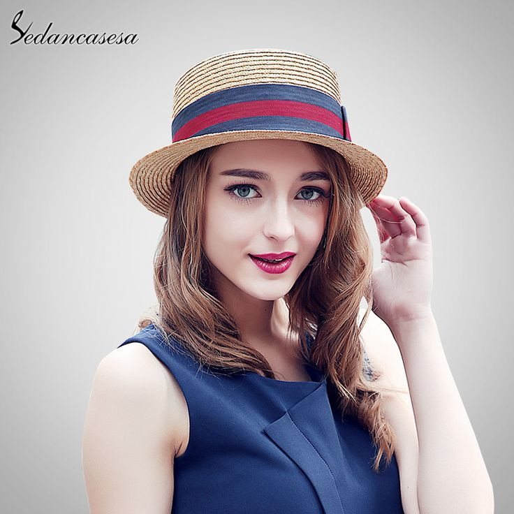 Brand Fashion Womens Vintage Beach Summer Straw Trilby Hat With Bow Wholesale Sun Hats SW038054