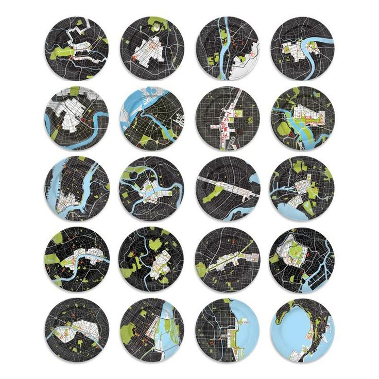 City Plates: 20 different cities. #Plates #City_Plates #notneutral