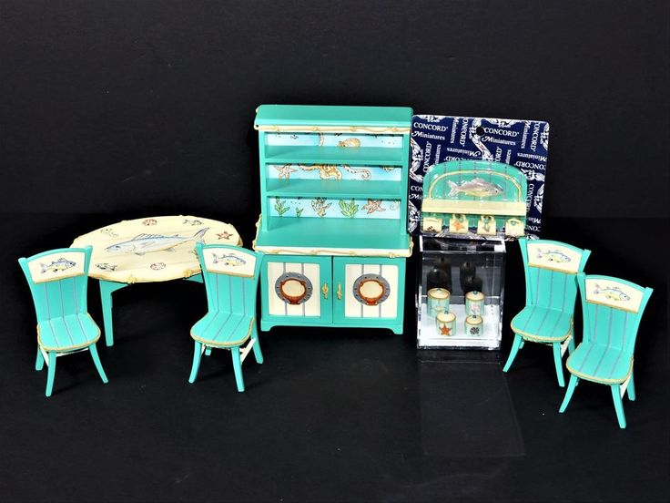 CONCORD CAPTAINS GALLEY NAUTICAL THEME DINING ROOM FURNITURE W/ACCESSORIES 1:12 #ConcordMiniatures $37.99 + $8.25