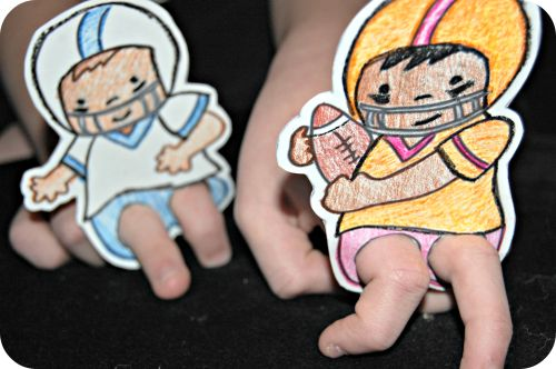 Printable Football Finger Puppets: Little Kid Fun For The Big Game