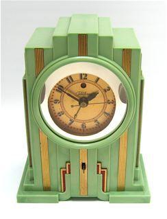 Art Deco Bakelite clock, Paul Frankl Design