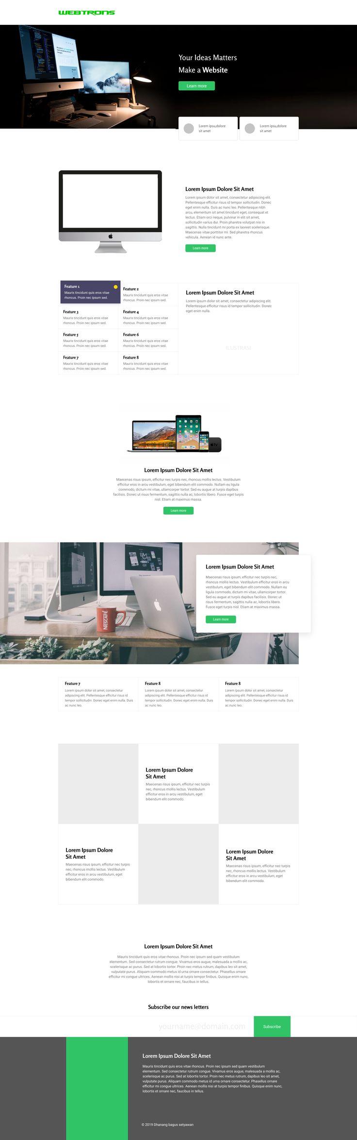 Web Design Desktop Desain Berlayar