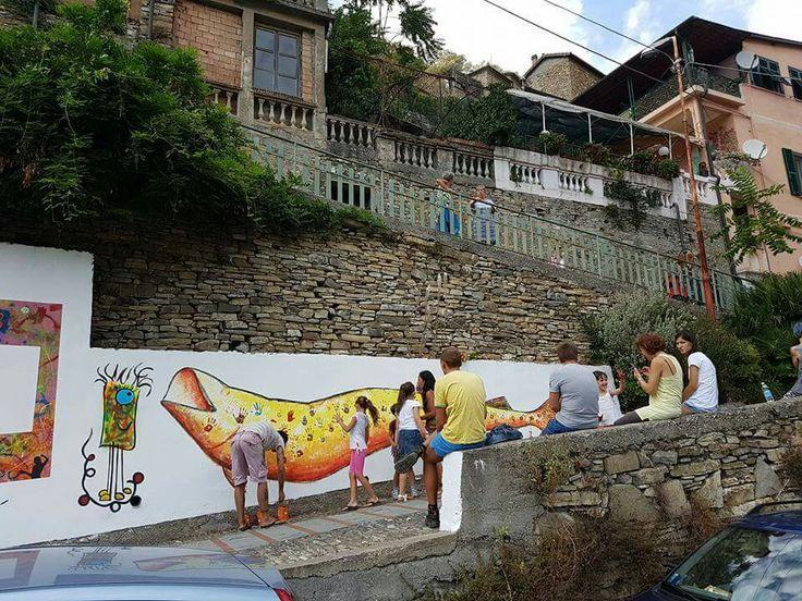 Murale a Badalucco