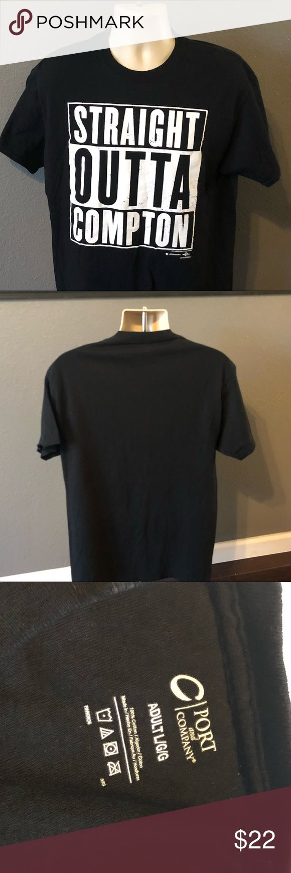 NWA t shirt straight outta Compton Large Port L Pit to pit 20 inches. Shoulder to waist 28 inches. Great condition see all pictures provided. port company Shirts Tees - Short Sleeve