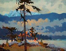 Robert Genn, artist, original landscape paintings at White Rock Gallery Light and Klag, Octopus Islands
