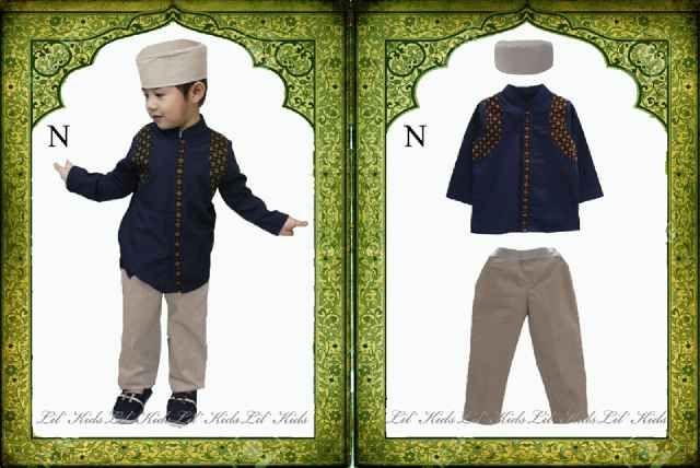 Setelan muslim baju koko anak laki laki biru tua lengan panjang umur 3-4-5-6-7 tahun - http://keikidscorner.com/baju-anak-laki-laki/baju-setelan/setelan-muslim-baju-koko-anak-laki-laki-biru-tua-lengan-panjang-umur-3-4-5-6-7-tahun.html