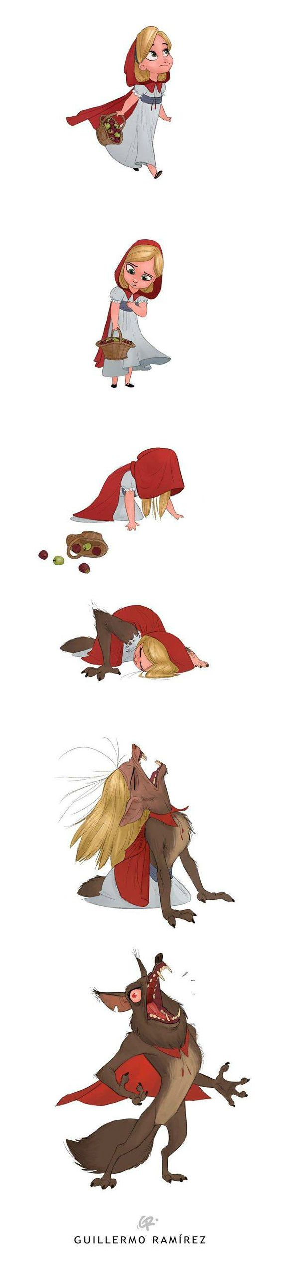 """What if little red riding hood was a werewolf?"" by Guillermo Ramírez  Blog/Website 