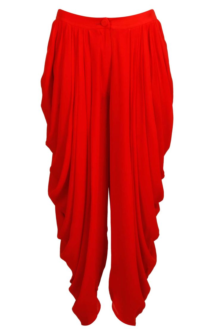Venetian red dhoti pants available only at Pernia's Pop-Up Shop.
