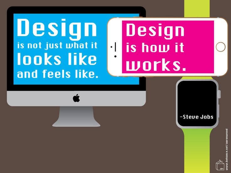 """Free inspiring quote desktop, iPad and iPhone wallpaper download: """"Design is not just what it looks and feels like. Design is how it works."""" --Steve Jobs"""