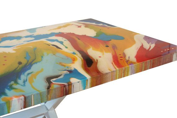 Artistic Resin Table